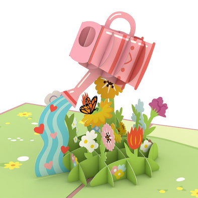 Mother's Day Watering Can Pop-Up Card
