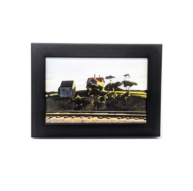 Edward Hopper 'New York, New Haven and Hartford' Framed Mini-Print
