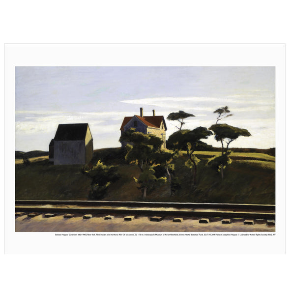 Edward Hopper 'New York, New Haven and Hartford' Print
