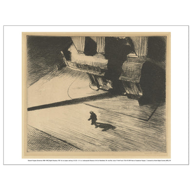 Edward Hopper 'Night Shadows' Print