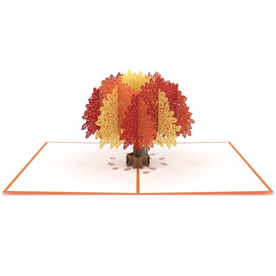 Autumn Oak Tree Pop-Up Card