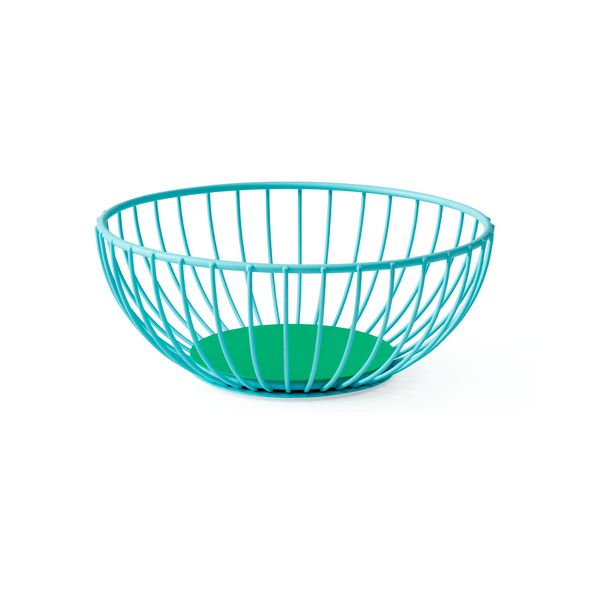 Octaevo Barcelona Iris Small Wire Basket - Light Blue & Green