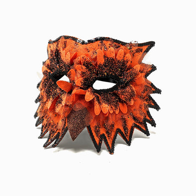 Midnight Owl Masquerade Mask - Orange