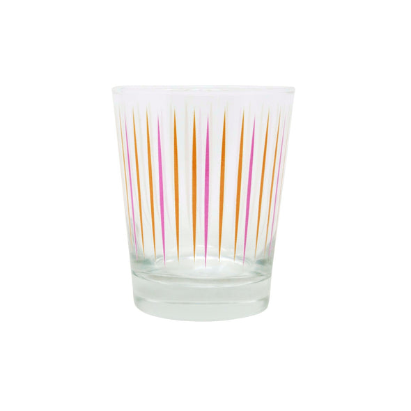 "Modern Home Bar ""Pick Me"" Orange and Pink Old Fashioned Glasses"