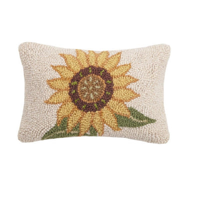 Sunflower Hooked Lumbar Pillow