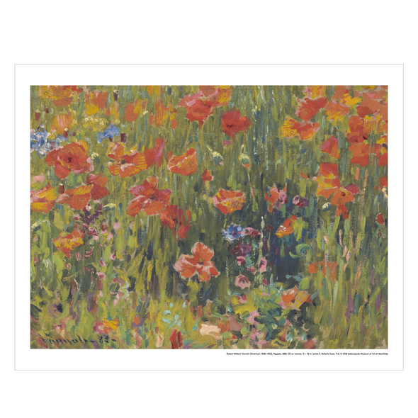 Robert Vonnoh, 'Poppies' Print