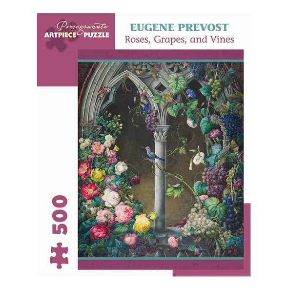 Eugene Prevost Roses, Grapes and Vines Jigsaw Puzzle