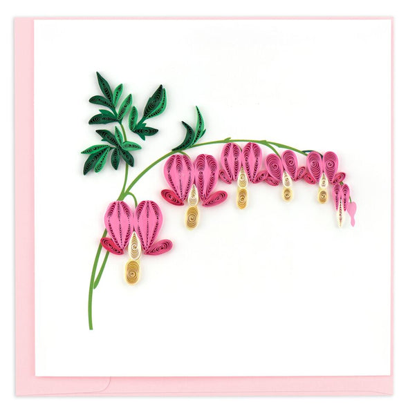 Bleeding Heart Flower Quilling Card
