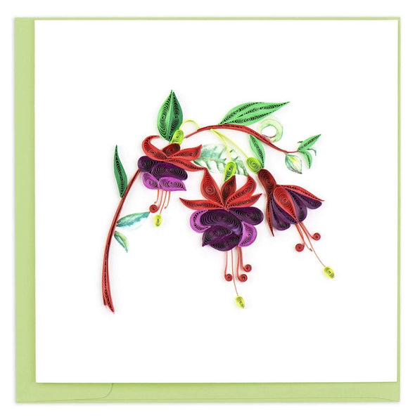 Fuchsia Flower Quilling Card