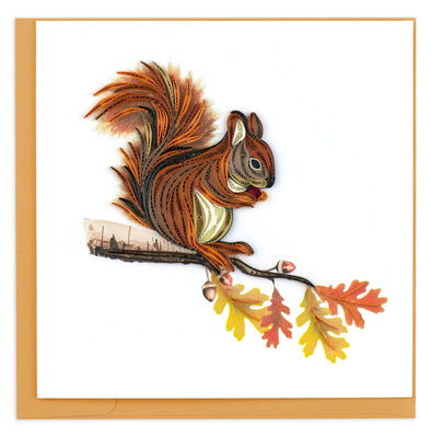 Autumn Squirrel Quilling Card
