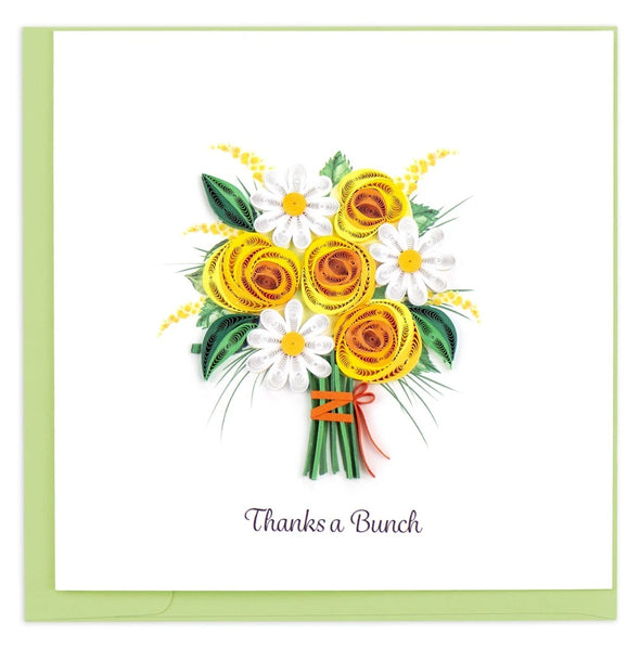 """Thanks a Bunch"" Quilling Card"