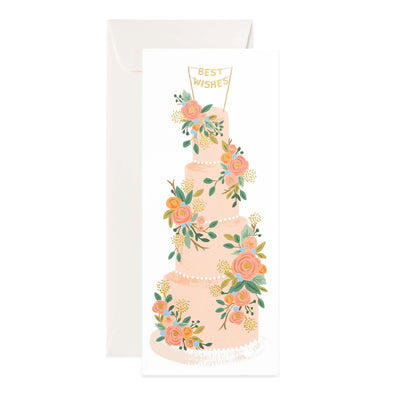 Tall Wedding Cake Card