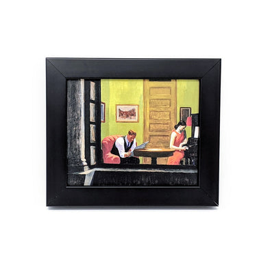 Edward Hopper 'Room in New York' Framed Mini-Print