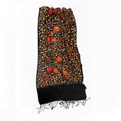 Embroidered Wool Shawl