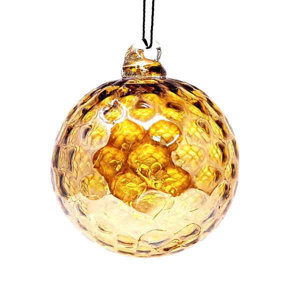 Shawn Everette Handmade Glass Ball Ornament - Golden Honey