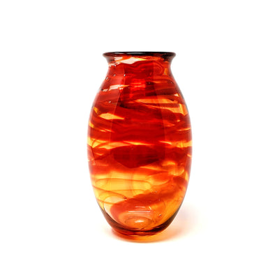 Shawn Everette Handmade Glass Red Wrap Vase