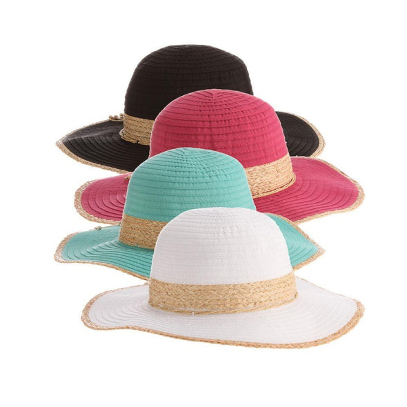 Ladies' Sun Hat with Raffia Ribbon