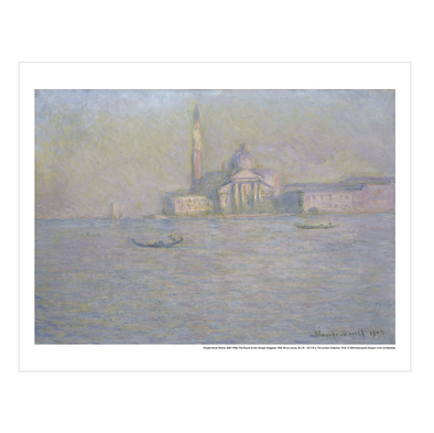"Claude Monet ""The Church of San Giorgio Maggiore' Print"
