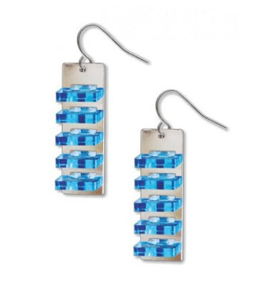Space Between Earrings, Blue
