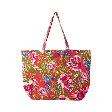 Floral Design Tote Bag