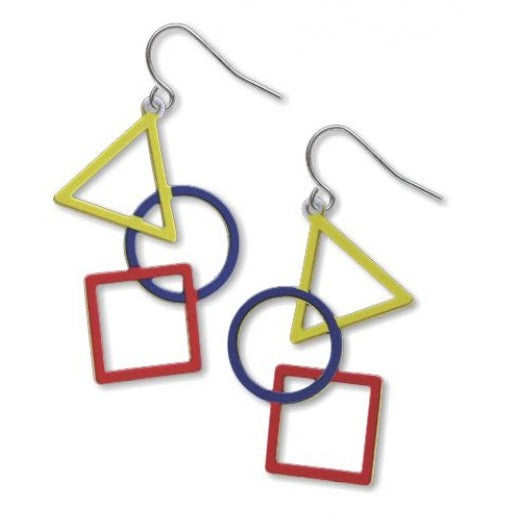 Triangle, Circle, Square Earrings