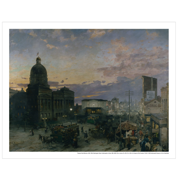 'Washington Street, Indianapolis at Dusk' Print