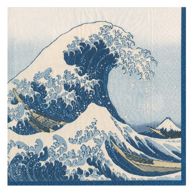 Hokusai, The Great Wave Cocktail Napkin Set