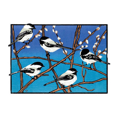 Chickadees Holiday Card Set