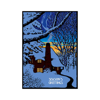 Winter House Holiday Card Set