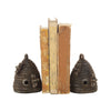 Cast Iron Beehive Bookend Set