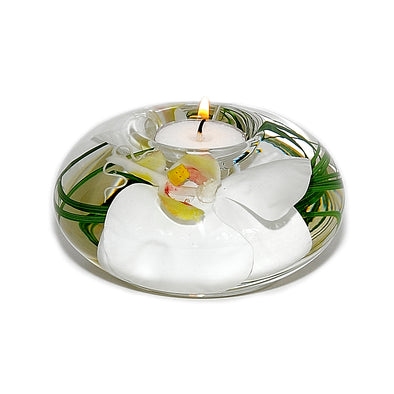 Medium White Orchid Tea Light