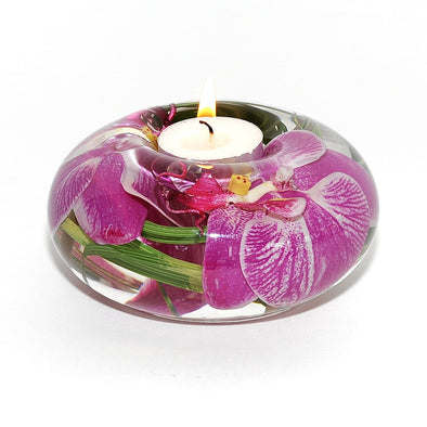 Medium Fuchsia Orchid Tea Light