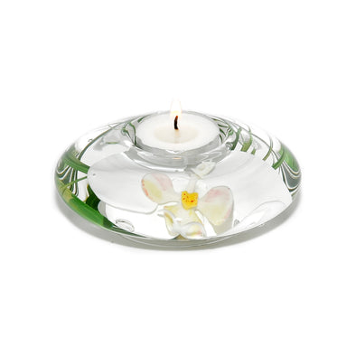 Small White Orchid Tea Light