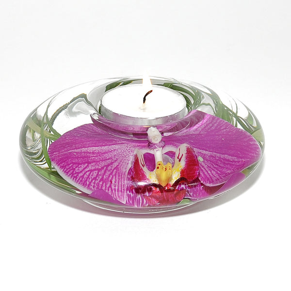 Small Orchid Tea Light