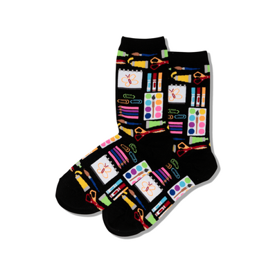Art Supplies Women's Socks