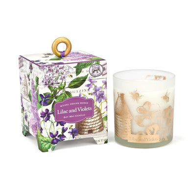 Lilac and Violets Soy Wax Candle