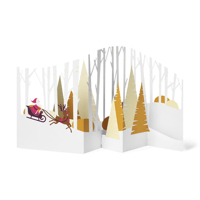 MoMA Forest Sleigh Ride Holiday Card Set