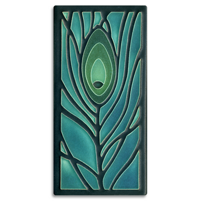 Peacock Feather Motawi Tile