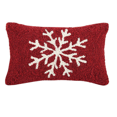Snowflake Hooked Wool Pillow