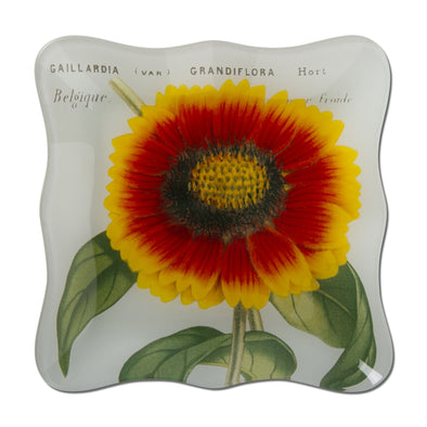 Harvest Sunflower Glass Plate