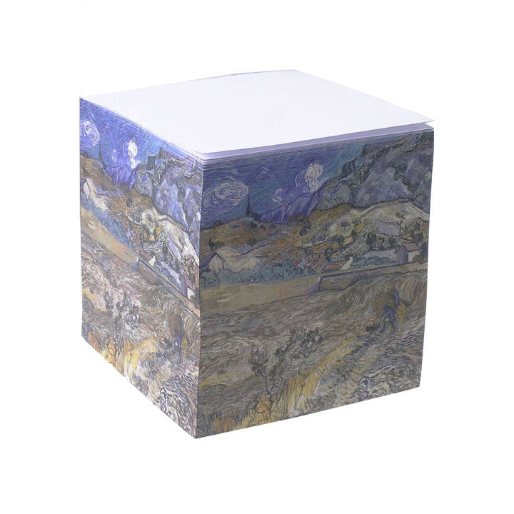 Vincent van Gogh 'Landscape at Saint Rémy' Note Cube