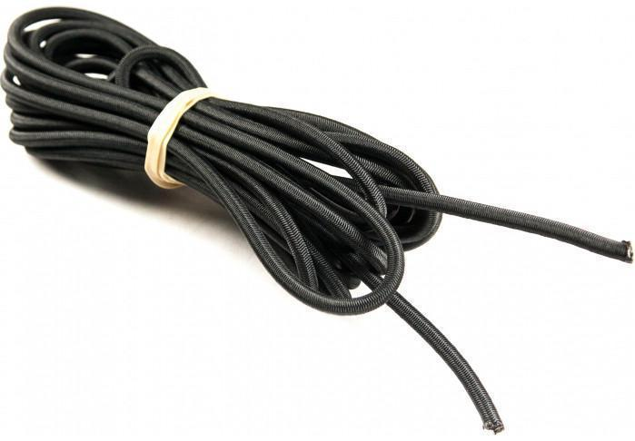 None - Elastic Shockcord Black 5mm X 5M