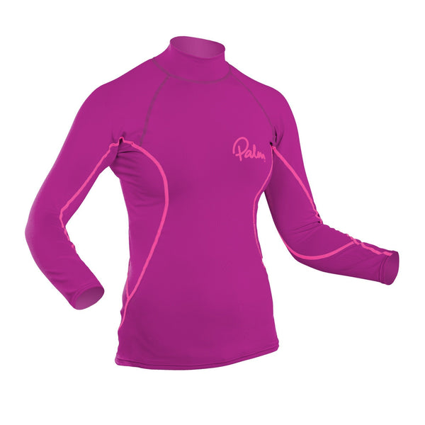 None - Palm Rash Guard Womens Longsleeve