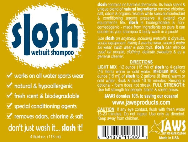 Slosh Wetsuit Shampoo and Cleaner