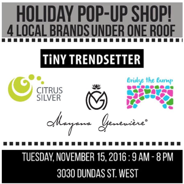 Bridge the Bump at 3030 Dundas Pop-Up Shop