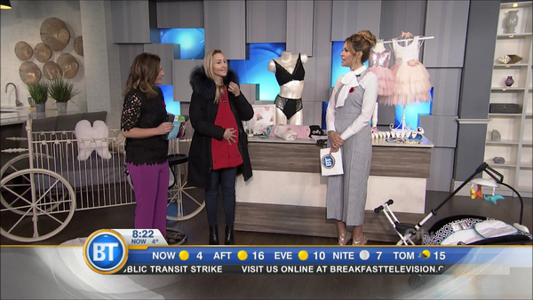 Bridge the Bump Coat Extensions Featured on Breakfast Television