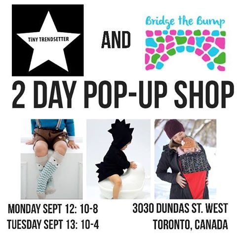 Bridge the Bump Pop-Up Shop with Tiny Trensetters