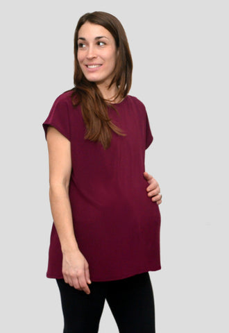 Bridge the Bump Reversible Maternity Shirt for Pregnancy and Nursing
