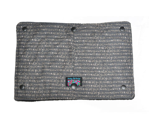 Coat Extension Drool Shield Accessory for Babywearing - Grey Love Letters