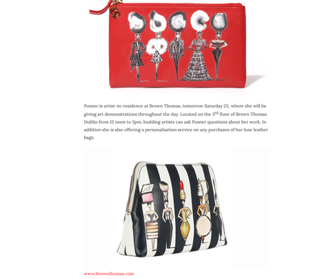 leather pouch bag bags charlotte posner artist designer design make up make-up bag popdolls striped red black exclusive limited edition love article important